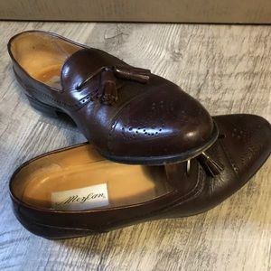 Men's Mezlan brown loafers size 10 dress shoes